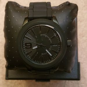 Diesel 1873 3-hand watch in black stainless steel